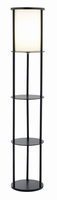 Adesso Stewart Round Shelf Floor Lamp