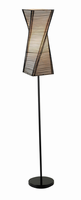 Adesso Stix Floor Lamp, Black