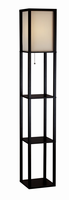 Adesso Wright Tall Floor Lamp, Black