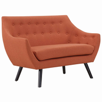 Allegory Loveseat, Orange [FREE SHIPPING]