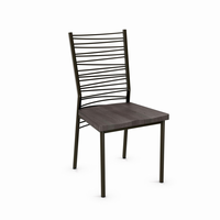 Amisco - 30123 - Crescent Chair (Distressed Solid Wood Seat)