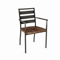 Amisco - 30144 - Tori Armchair (Distressed Solid Wood Seat)