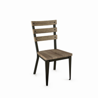 Amisco - 30223 - Dexter Chair (Distressed Solid Wood Seat And Backrest)