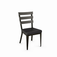Amisco - 30223 - Dexter Chair (Upholstered Seat And Distressed Solid Wood Backrest)