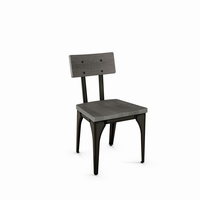 Amisco - 30263 - Architect Chair (Distressed Solid Wood Seat And Backrest)