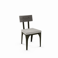 Amisco - 30263 - Architect Chair (Upholstered Seat And Distressed Solid Wood Backrest)