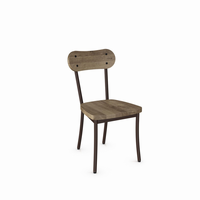 Amisco - 30268 - Bean Chair (Distressed Solid Wood Seat And Backrest)