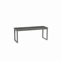 Amisco - 30409 - Dryden Bench (Distressed Solid Wood Seat - Short Version)