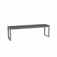 Amisco - 30419 - Dryden Bench (Distressed Solid Wood Seat - Long Version)
