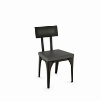 Amisco - 30563 - Architect Chair (Upholstered Seat And Metal Backrest)