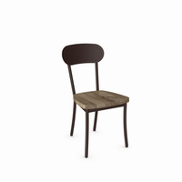 Amisco - 30568 - Bean Chair (Distressed Solid Wood Seat And Metal Backrest)