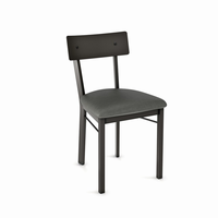 Amisco - 30593 - Lauren Chair (Upholstered Seat And Metal Backrest)