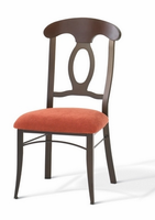 Amisco 35211 Cynthia Chair with Wood Backrest