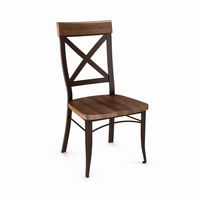 Amisco - 35214 - Kyle Chair (Distressed Solid Wood Seat And Accent)