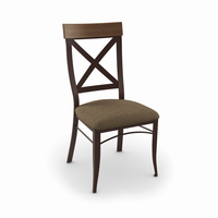 Amisco - 35214 - Kyle Chair (Upholstered Seat And Solid Or Distressed Solid Wood Accent)