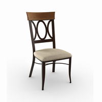 Amisco - 35217 - Cindy Chair (Upholstered Seat And Solid Wood Accent)