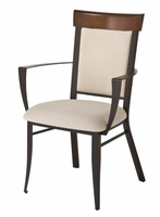 Amisco 35410 Eleanor Arm Chair with Wood Backrest