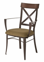 Amisco 35414 Kyle Arm Chair with Wood Backrest