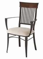 Amisco 35419 Annabelle Arm Chair with Wood Backrest
