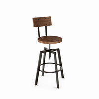 Amisco - 40263 - Architect Screw Stool (Distressed Solid Wood Seat And Backrest)