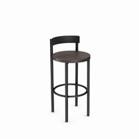 Amisco - 40468 - Zoe Non Swivel Stool (Distressed Solid Wood Seat)