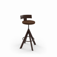 Amisco - 40614 - Uplift Screw Stool (Upholstered Seat And Metal Backrest)