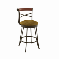 Amisco - 41402 - Historian Swivel Stool (Solid Wood Accent)