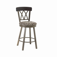 Amisco - 41405 - Brittany Swivel Stool (Solid Wood Accent)