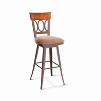 Amisco - 41417 - Cindy Swivel Stool (Solid Wood Accent)