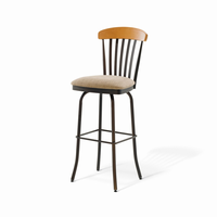 Amisco - 41418 - Tammy Swivel Stool (Solid Wood Accent)