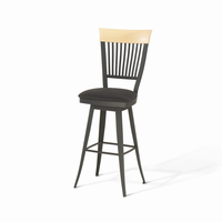 Amisco - 41419 - Annabelle Swivel Stool (Solid Wood Accent)
