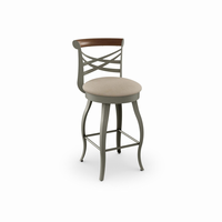 Amisco - 41512 - Whisky Swivel Stool (Solid Wood Accent)