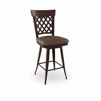 Amisco - 41515 - Wicker Swivel Stool (Solid Wood Accent)