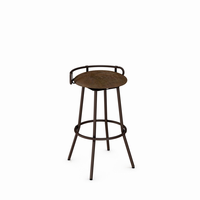 Amisco - 41565 - Bluffton Swivel Stool (Upholstered Seat And Metal Backrest)