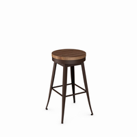 Amisco - 42414 - Grace Swivel Stool (Distressed Solid Wood Seat)