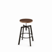 Amisco - 42563 - Architect Screw Stool (Distressed Solid Wood Seat)
