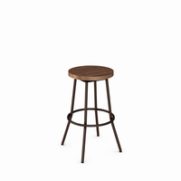 Amisco - 42565 - Bluffton Swivel Stool without Backrest (Distressed Solid Wood Seat)