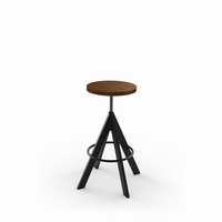 Amisco - 42614 - Uplift Screw Stool (Distressed Solid Wood Seat)