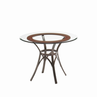 Amisco - 50607 - Kai Table Base (Solid Wood Accent)