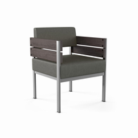 Amisco Robinson Armchair (Distressed Solid Wood Accent)