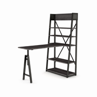 Amisco Rupert Freestanding Unit With Table (Distressed Solid Wood Tabletop And Shelves)