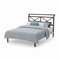 Amsico - 12354 - Gabriel Bed (with Platform Footboard Mattress Support)