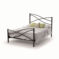 Amsico - 12365 - Nina Bed (with Platform Footboard Mattress Support)