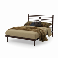 Amsico - 12374 - Timeless Bed (with Platform Footboard Mattress Support)