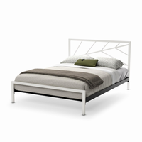 Amsico - 12392 - Folium Bed (with Platform Footboard Mattress Support)