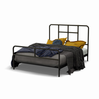 Amsico - 12395 - Franklin Bed (with Platform Footboard Mattress Support)