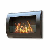 Anywhere Fireplace Indoor Chelsea Wall Mount Fireplace - Black