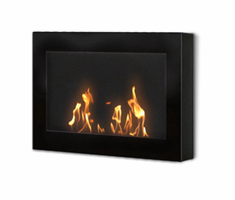 Anywhere Fireplace Indoor SoHo Wall Mount Fireplace - Black