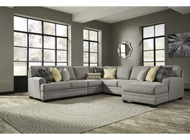 Ashley Furniture Armless Chair, Pewter