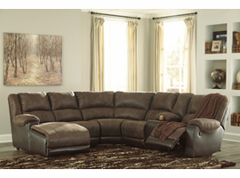 Ashley Furniture Armless Recliner, Coffee